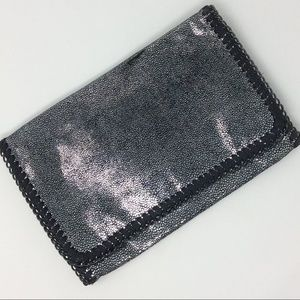 Phase 3 Silver Metallic Chain Envelope Clutch